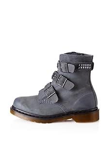 Dr. Marten's Women's Hayley Motorcycle Boot (Charcoal)