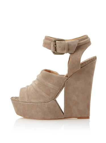 L.A.M.B. Women's Adorable Ankle-Strap Sandal (Taupe)