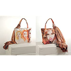 Shopping World Faux Silk With Shiffon Stole Hand Bag - 3Girls