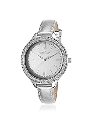 Caravelle by Bulova Women's 43L167 Silver Leather Watch