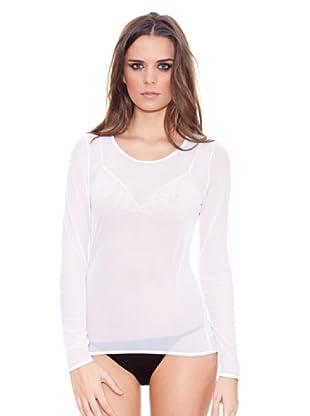 ROBERTO CAVALLI INTIMO Camiseta Semitransparente Manga Larga (Blanco)