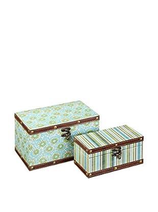 Chateau chic Aufbewahrungsbox 2er Set mehrfarbig