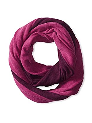Cullen Women's Colorblock Cashmere Infinity Scarf, Cherry/Blackberry