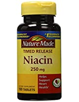 Nature Made Timed Release Niacin 250 Mg, 100 Count