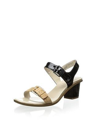 Rockport Women's Vikara Double Buckle Sandal (Black)