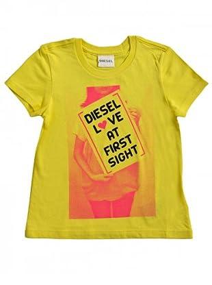 Diesel Kid T-Shirt Teingk (gelb/fuchsia/schwarz)