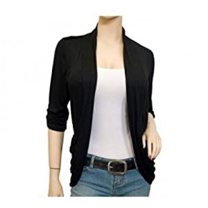 Women Black Stretch Shrug