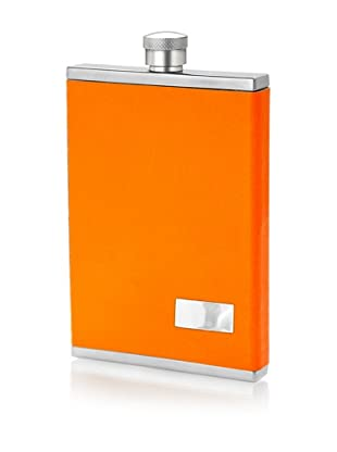 Wilouby 3-Oz. Slimline Collection Stainless Steel Flask, Neon Orange