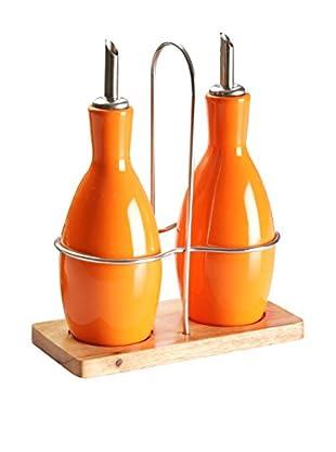 ZINGS Essig- und Öl 3 tlg. Set Truffaut orange
