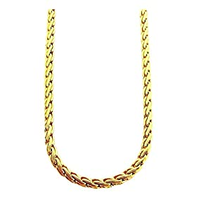Snaky Groove Gold-plated Men's Chain