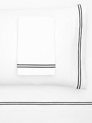Garnier-Thiebaut Nice Hotel Style Sheet Set (White/Black)