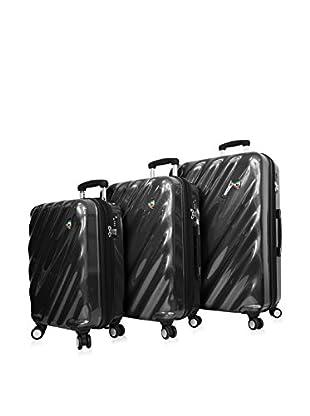 Mia Toro 3-Piece Onda Fusion Hardside Spinner Luggage Set