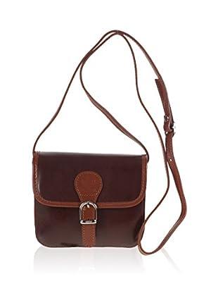PITTI BAGS Überschlagtasche  camel