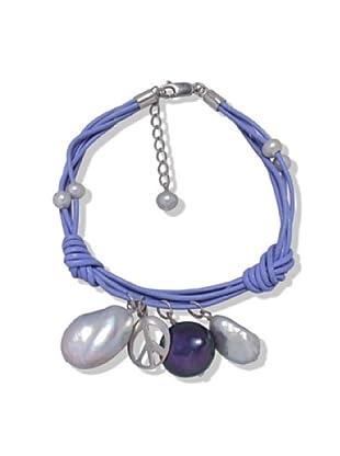 Valero Pearls 60201607 - Pulsera de mujer de plata de ley con perla de agua dulce, 2 cm