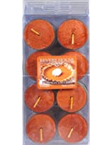 Candle-Lite Revere House 8-Pack Tealights, Pumpkin Saffron