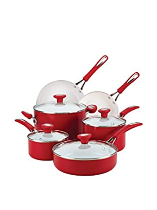 SilverStone 12-Piece Chili Red Ceramic CXI Nonstick Cookware Set