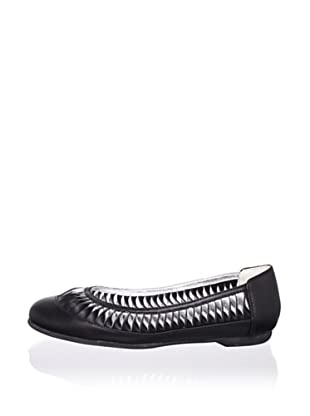Pliner Jrs Sonia Ballet Flat (Black Leather)