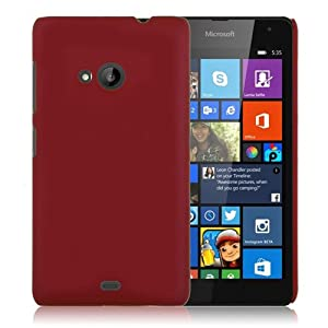 WOW Imagine Matte Rubberised Hard Case Back Cover For Nokia Lumia 535 (Maroon Wine Red)