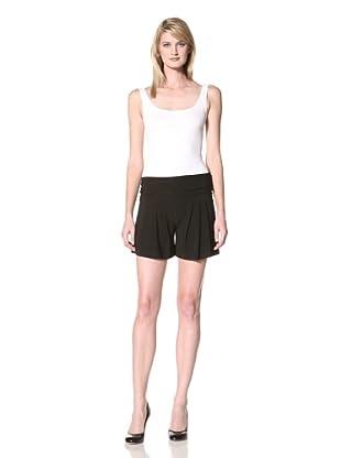 Norma Kamali Women's Wide Pleat Short (Black)