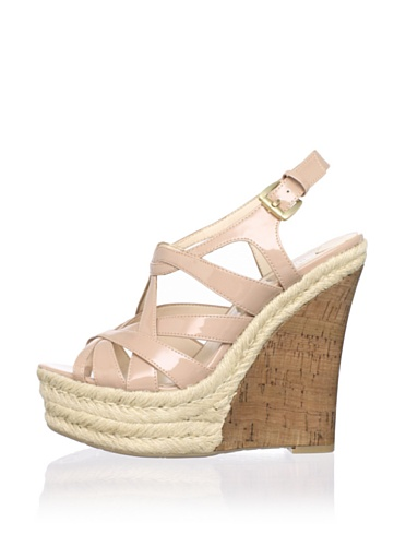 Boutique 9 Women's Flower Strappy Wedge (Natural)