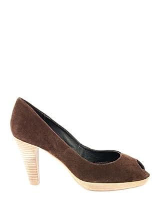 Eye Shoes Zapatos Peep Toe (Marrón)