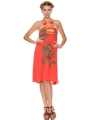 Peace & Love Vestido Bordado (Coral)