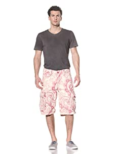 Jet Lag Men's Paisley Print Short (Pink)