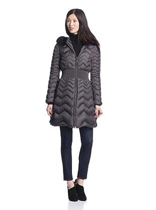 Dawn Levy Women's Jacqueline Down Coat with Fur Trim (Arctic)