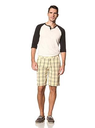 nüco Men's Plaid Shorts (Banana)