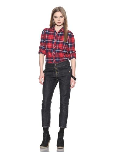 Marni X Current/Elliot Women's Studio 3 The Easy Trouser Jean (One Wash)