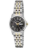 Citizen Analog Black Dial Women's Watch - EQ0604-56E