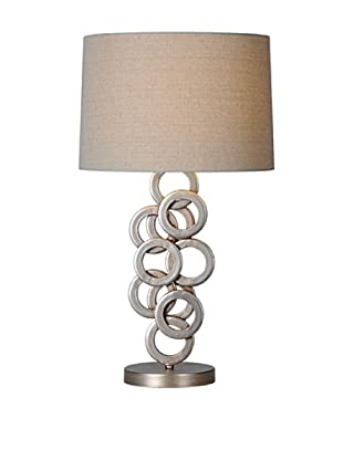 Brunella Lamp, Antique Silver
