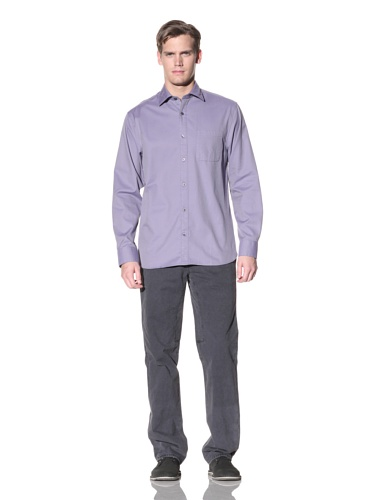 Hickey Freeman Men's Solid Sport Shirt (Amethyst)