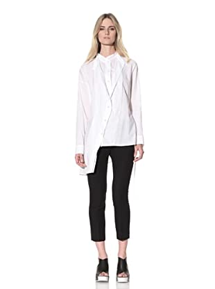 Ann Demeulemeester Women's Double-Button Front Shirt (White)