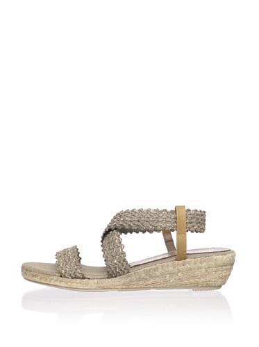 Jean-Michel Cazabat Women's Tiara Ankle-Strap Sandal (Grey)