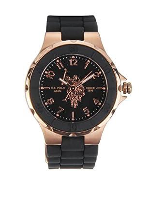 U.S. POLO ASSN. Uhr mit japanischem Quarzuhrwerk Ginger schwarz 33 mm
