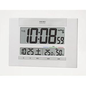 SEIKO CLOCK (セイコークロック) 掛け時計 置き時計 兼用 デジタル 温度表示 湿度表示 電波時計 SQ429W