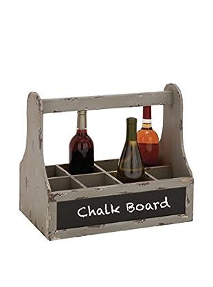 Wood Wine Basket W/ Chalk Board