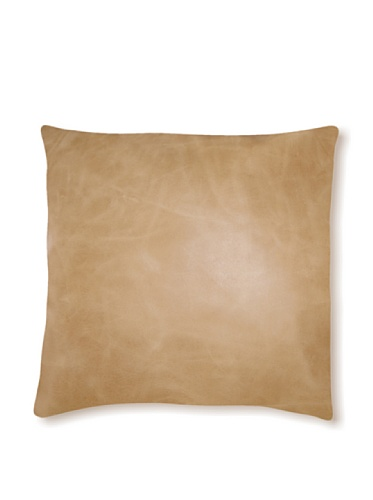 Natural Siena Leather Pillow (Tan)
