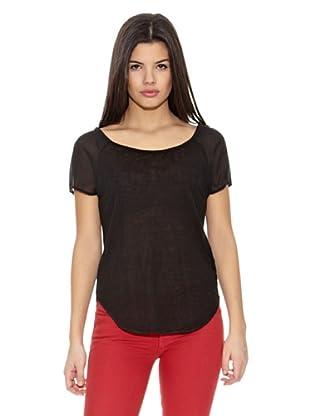 Springfield Camiseta S1 Lino Tull (Negro)