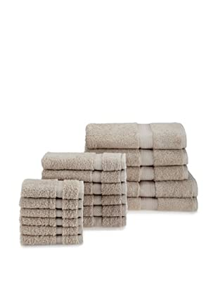 Chortex Rhapsody Royale 17-Piece Towel Set, Stone