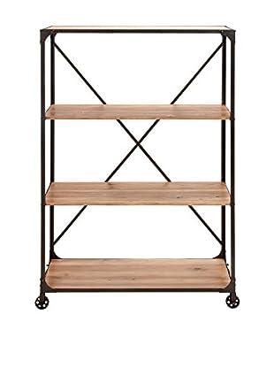 Metal & Wood Shelf, Natural