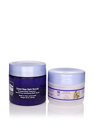 Dead Sea Spa Care Almond Salt Scrub and Almond Shea Body Butter, 2 Pack