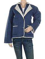 Rajrang Cotton Checkered Blue Jacket