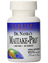 Planetary Herbals Dr. Nanba's Maitake-PRO Tablets, 30 Count
