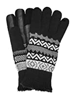 Isotoner Women's Knit SmarTouch Gloves, Black Pattern