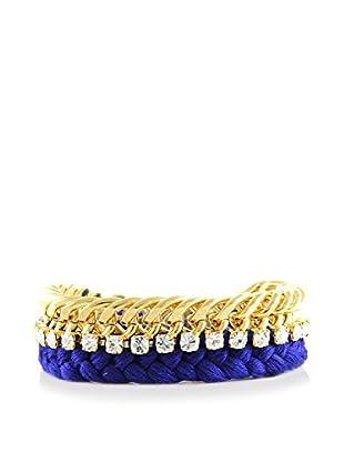 Ettika 18K Gold-Plated & Royal Blue Pampered Princess Bracelet