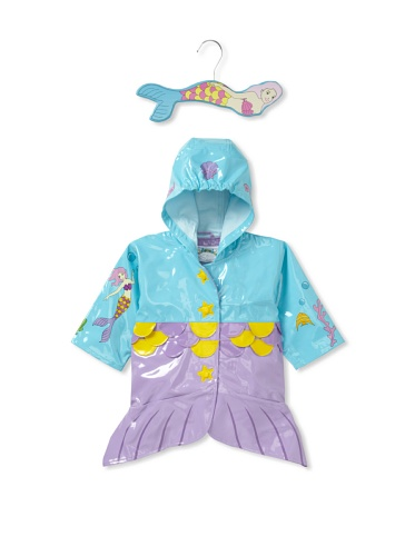 Kidorable Mermaid Raincoat (Aqua blue)