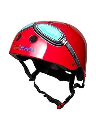 Kiddimoto Fahrradhelm Red Goggle Pilot