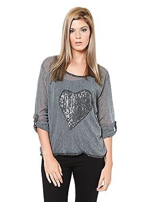 Laura Moretti Camisa Mujer (Gris)